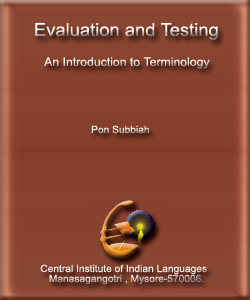 Evaluation and Testing(An Introduction to Terminology)